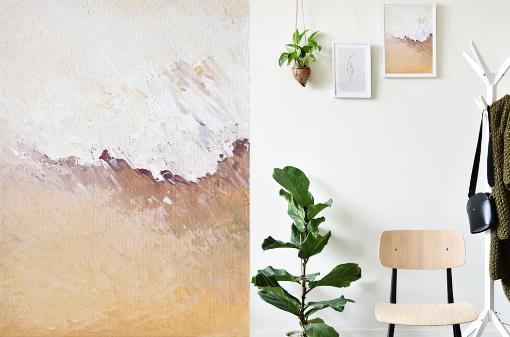 Mindful art prints and acrylic paintings on canvas