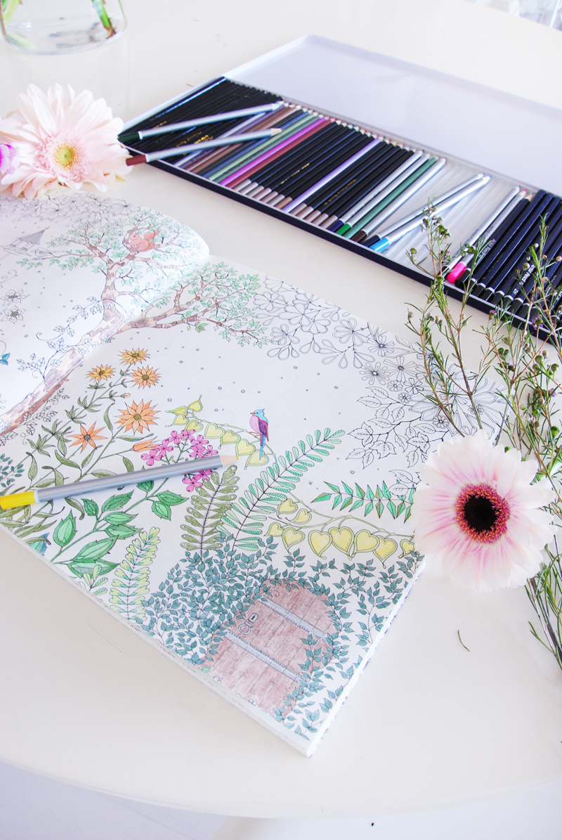Irenevanguin Lifestyle Blog Stress Free In 2015 Coloring Secret Garden Book