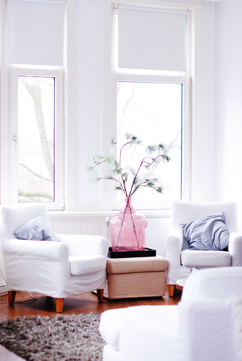 White Living Room Decor Modern Colour