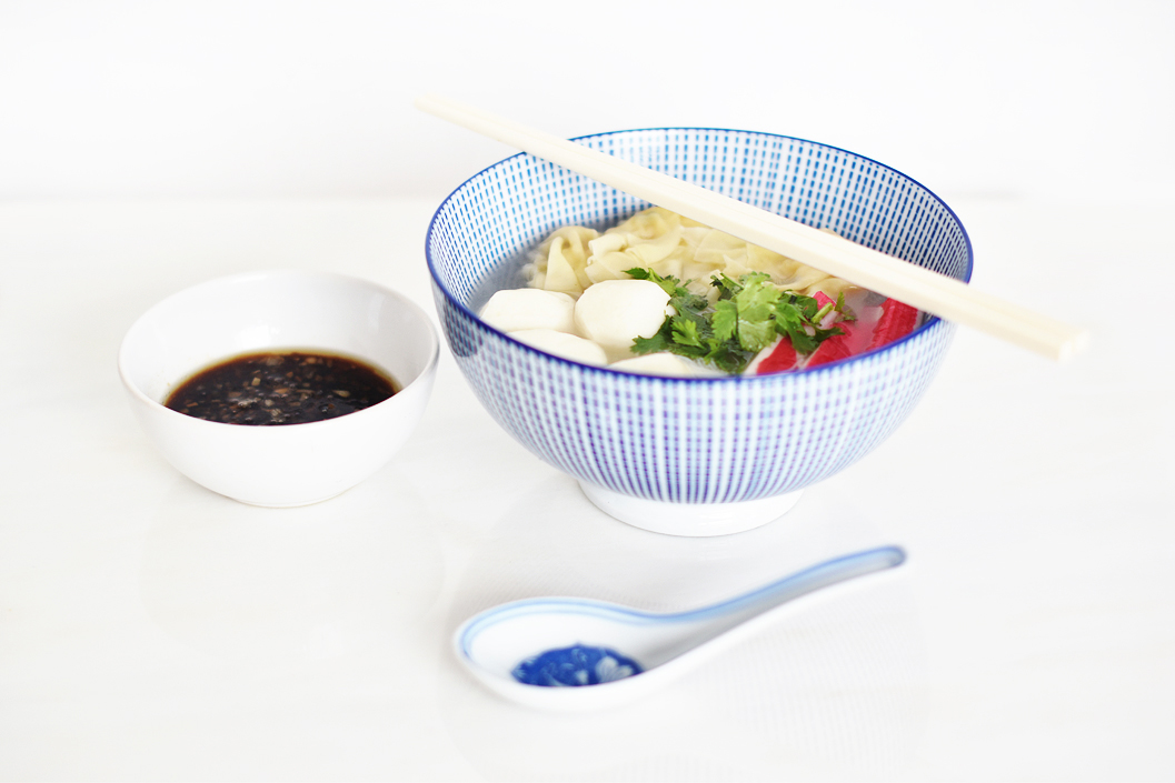 Chinese noodle soup with fish balls and suikau irene van for Chinese fish balls
