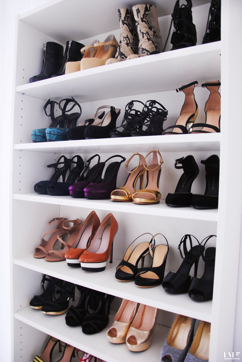 DIY Billy bookcase for shoes Irene